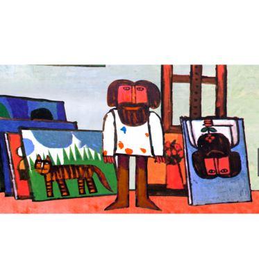 نقاش و پرنده