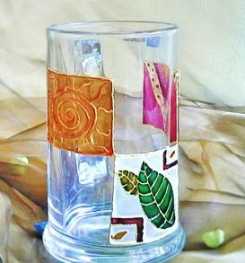 نقاشی روی شیشه با ویترای