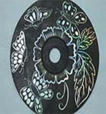 نقاشی روی  دیسک نوری
