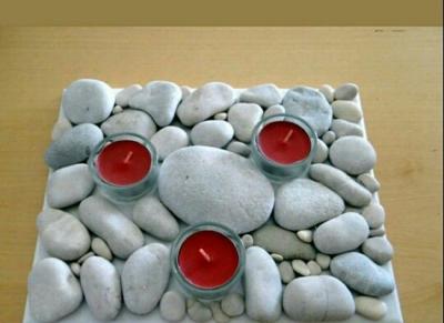 جا شمعی سنگی