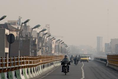 به دليل آلودگي هوا