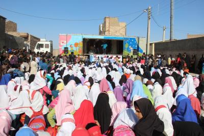 اجراهای تریلی سیار نمایش کانون در گلستان، سمنان و تهران