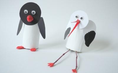 پنگوئن و لک لک کاغذی