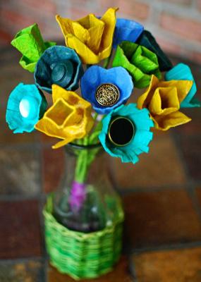 گلدان گل شانه تخم مرغی