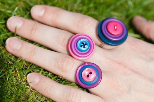 انگشتر دکمه ایی