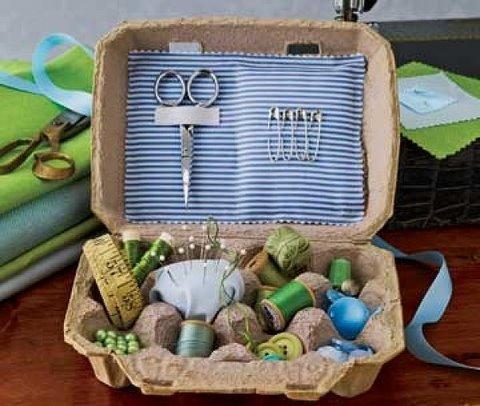 جعبه خیاطی با شانه تخم مرغ