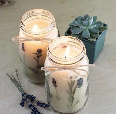 ساخت شمع با گل