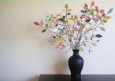گلدان برگ کاغذی