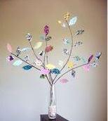 گلدان شاخه ی برگ