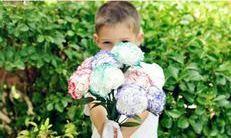 گل  دستمال کاغذی