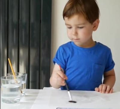 پدیدهنفوذ رنگ در کاغذ خیس