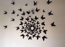 طرح دیواری پروانه
