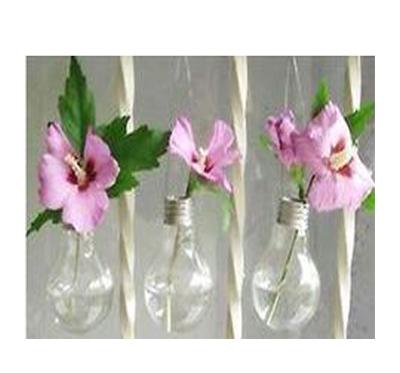 گلدان و آویز با لامپ