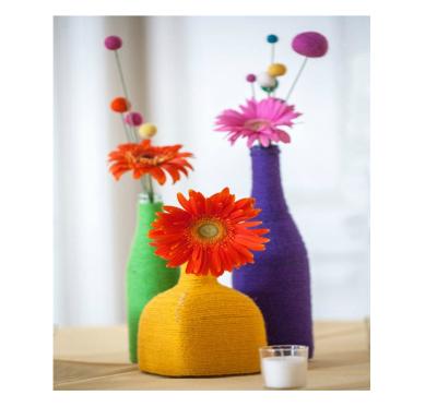 گلدان های کاموایی