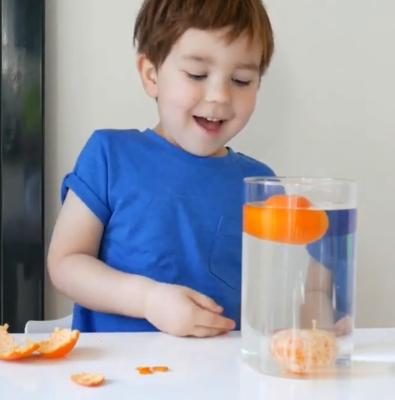 نارنگی در آب فرو میرود و یا روی آب شناور میماند؟