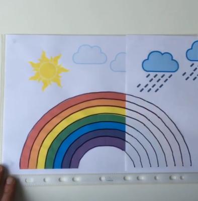پدیدهی شکلگیری رنگین کمان را روی کاغذ بیاورید