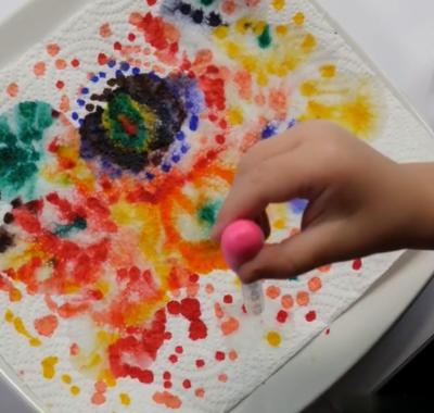 نقاشی کنید، سپس با آب نقاشی را تغییر دهید