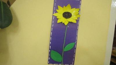 گل آفتابگردان مقوایی