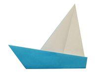 قایق بادبانی اریگامی