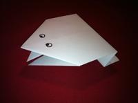 اوریگامی قورباغه پرشی