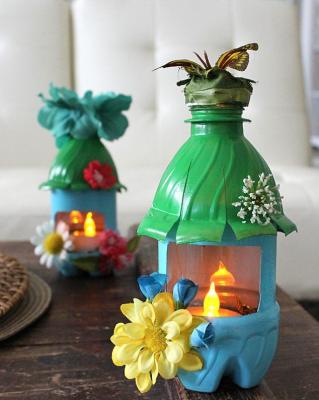ایده هایی برای بطری های پلاستیکی