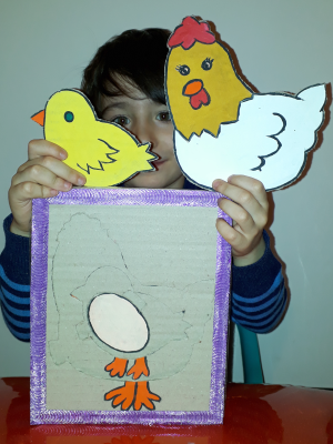 پازل مرغ و جوجه و تخم مرغ