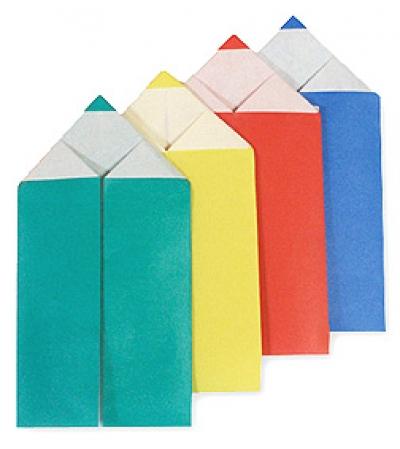 اوریگامی مداد رنگی