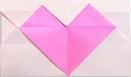 اوریگامی پاکت نامه ی قلب