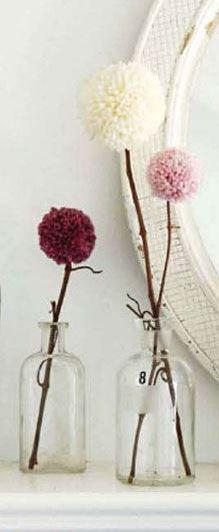 گلدان گل نخ کاموایی