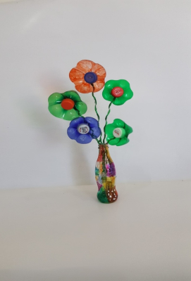 گلدان رنگی
