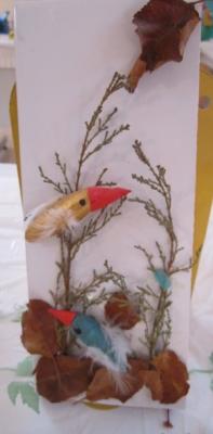 تابلوی پرندگان بلوطی