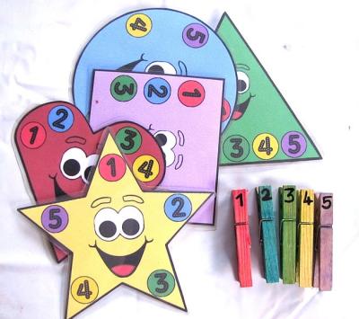 بازی رنگ و اعداد گیره لباس