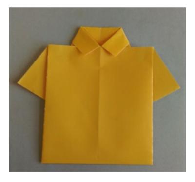 اوریگامی پیراهن پسرانه