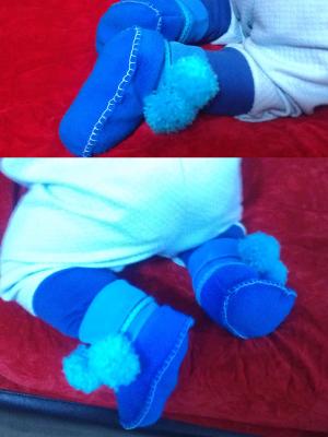 دوخت پاپوش نوزادی