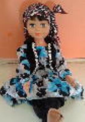 لباس سنتی لری برای عروسک دارا و سارا