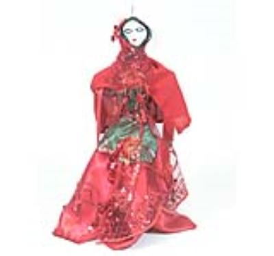 عروسک لباس قرمزی (دست ساز)
