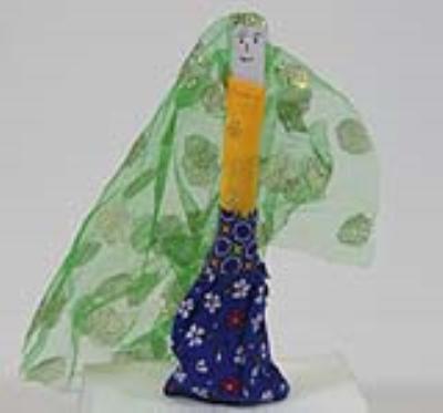 عروسک لال بهیگ (دست ساز)