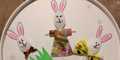 با قاشق های یکبار مصرف خرگوش بسازید