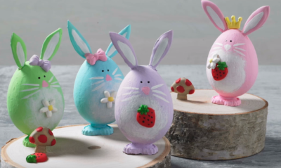 تزئین سفره عید، تخم مرغهای رنگی خرگوشی