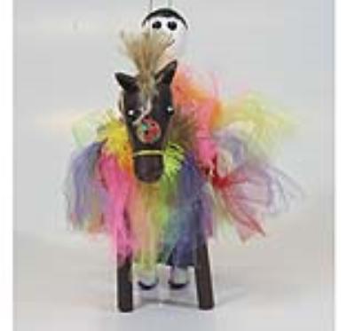 عروسک اسب چوبي (و مرد اسب سوار) (دست ساز)