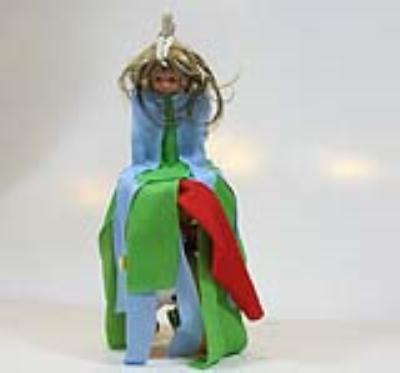 عروسک چول قزک- کولی قزک (دست ساز)