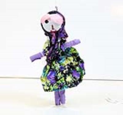 عروسک گلی خانم (دست ساز)