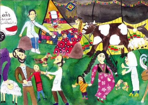 اعضای کانون، برگزیدگان مسابقه نقاشی سازمان بهداشت جهانی در مصر