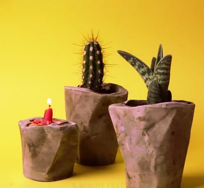 آموزش ساخت گلدان تزئینی