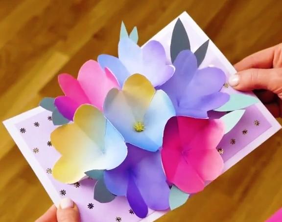 آموزش ساخت کارت پستال حجمی