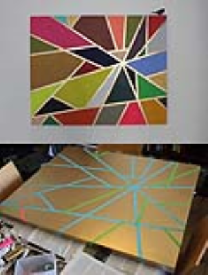 نقاشی با استفاده از چسب کاغذی