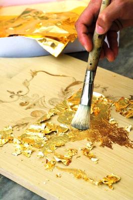 نقاشی با استفاده از ورق طلا
