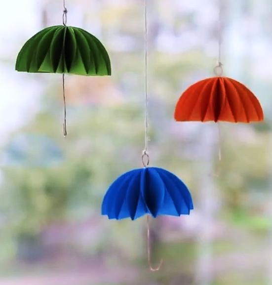 آموزش ساخت چتر آویز تزئینی