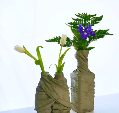 آموزش ساخت گلدان تزئینی با سیمان
