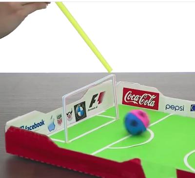 بازی فوتبال با فوت به همراه آموزش ساخت ماکت زمین فوتبال